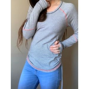 Lucy Tech Dashing Stripes Long Sleeve Athletic Top